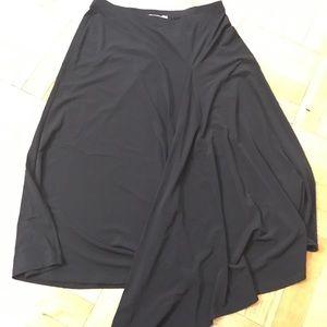 Michael Kors Asymmetrical Ankle Length Black Skirt